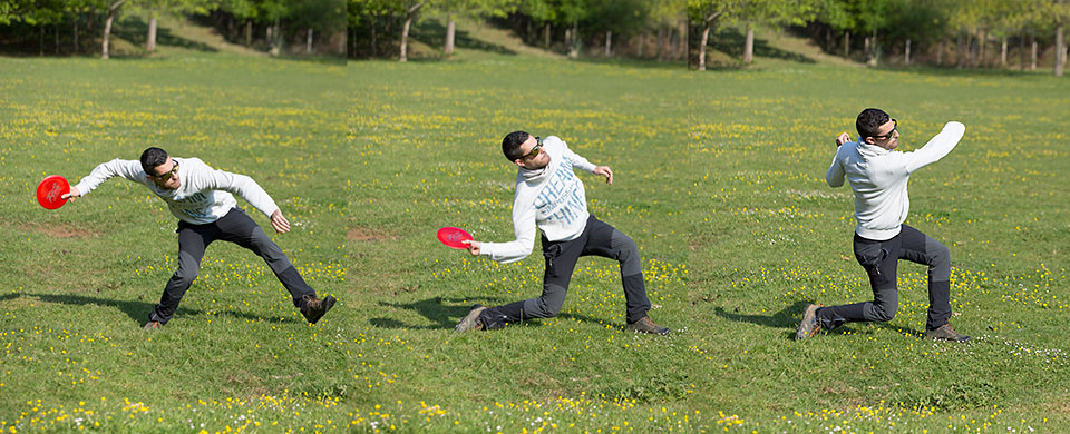 Fases lanzamiento forehand frisbee disc golf